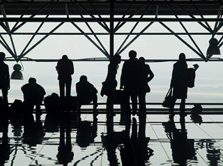 WAITING GAME: Passengers bear more than half the cost of domestic flight inefficiencies in terms of lost time and productivity due to delays, cancellations and missed connections, according to a new study commissioned by the FAA and led by UC Berkeley researchers. ©ISTOCKPHOTO.COM/EPIXX