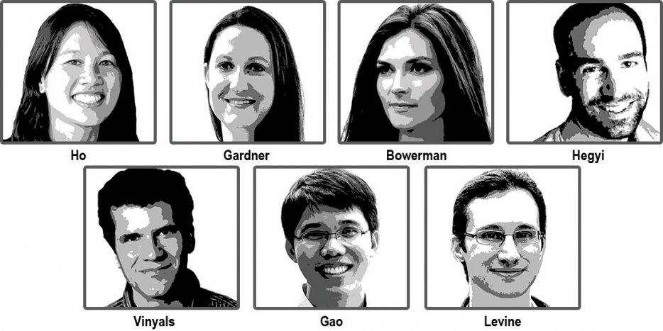 Portraits of seven Berkeley engineers named the Top Innovators Under 35 of 2016
