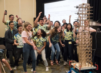 Cal Seismic Design Team during competition