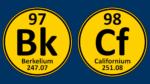 Periodic Table symbols for berkelium and californium