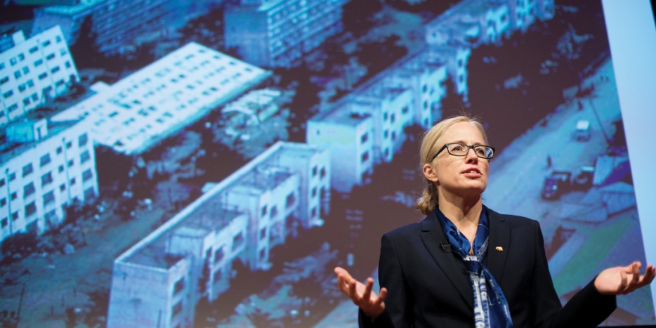 Thumbnail of video: CEE & Minner Distinguished Lecture: Elizabeth Hausler Strand, Build Change