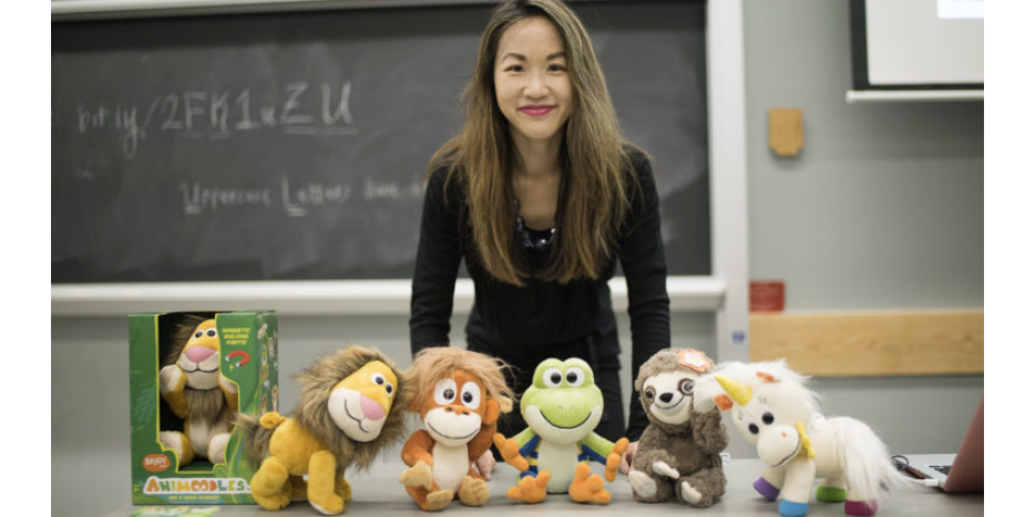 Marissa Louie with several of her plush friends