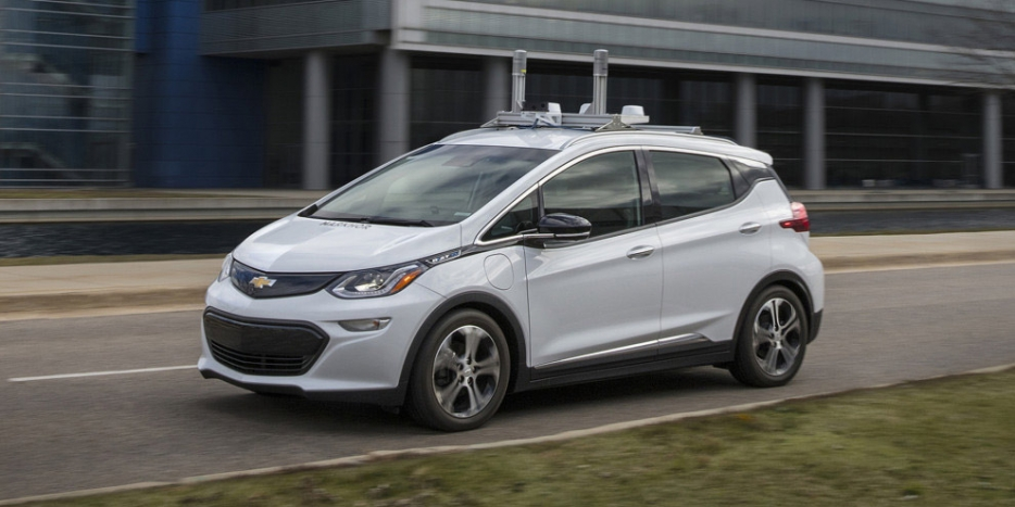 Self-driving car being tested