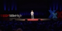 Eleanor Allen delivering her TEDx talk on access to water